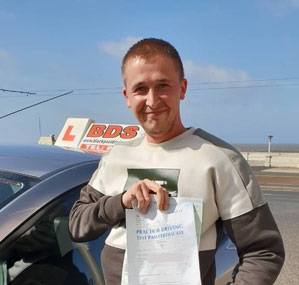 a perfect 1st time driving test